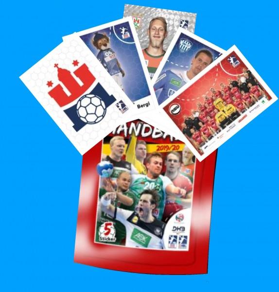 LIQUE MOLY Handball Bundesliga Sticker 19/20 - Stickertüte (5 Sticker)