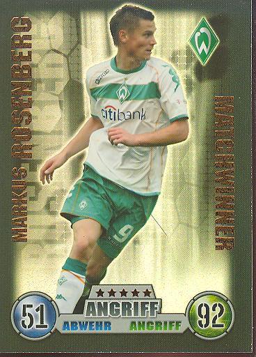Markus Rosenberg - Match Attax 08/09 - Matchwinner - Werder Bremen