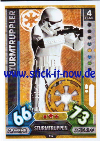 Topps Star Wars FORCE ATTAX UNIVERSE (2017) - Nr. 112