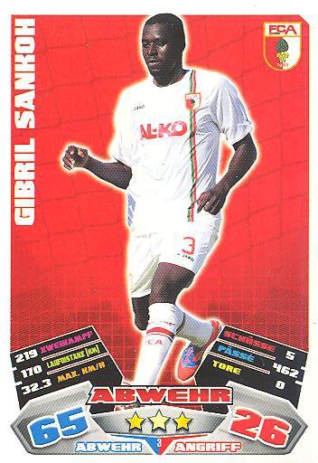 Match Attax 12/13 - Gibril Sankoh - FC Augsburg - Nr. 3