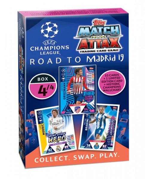 """Match Attax CL 18/19 """"Road to Madrid"""" - Deck 4 von 4"""