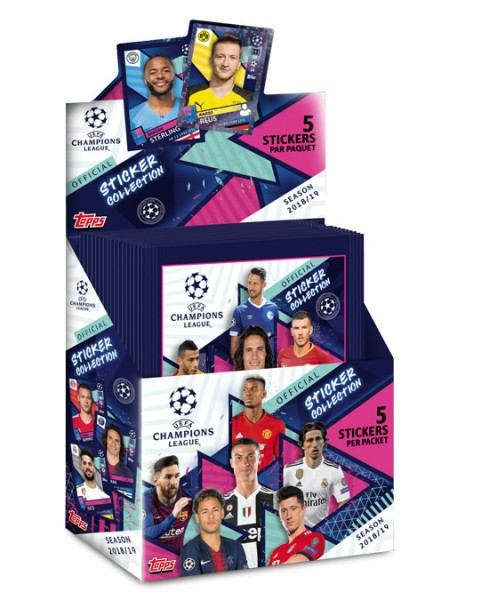 "Champions League 2018/2019 ""Sticker"" - Display (30 Tüten)"