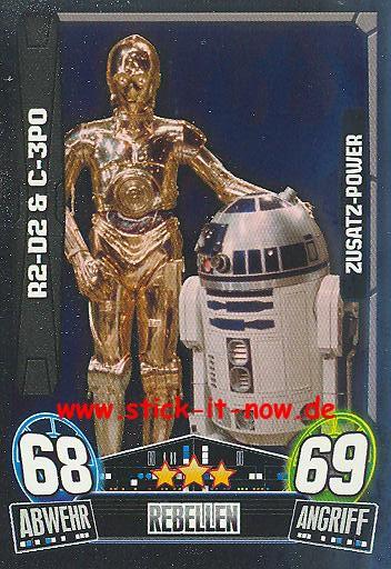 Force Attax Movie Collection - Serie 3 - Zusatz-Power - R2-D2 & C-3PO - Nr. 195