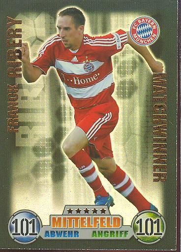 Franck Ribery - Match Attax 08/09 - Matchwinner - Bayern München