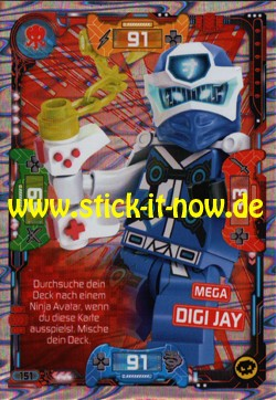 Lego Ninjago Trading Cards - SERIE 5 (2020) - Nr. 151 ( Mega Karte )
