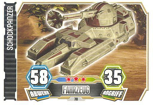 Force Attax - Serie 3 - Schockpanzer - Nr. 70