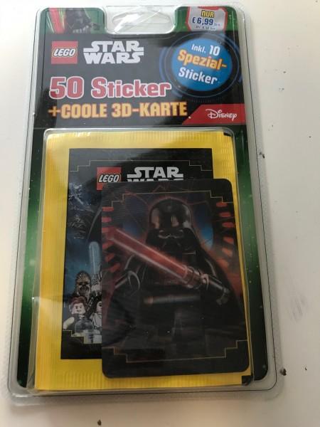 """Lego Star Wars """"Sticker-Serie"""" (2020) - Blister 3 ( 10 Tüten + Wackelkarte 3 )"""