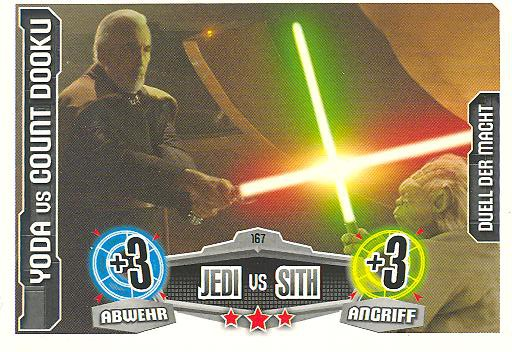 Force Attax - YODA vs COUNT DOOKU - Duell der Macht - Jedi vs Sith - Movie Collection
