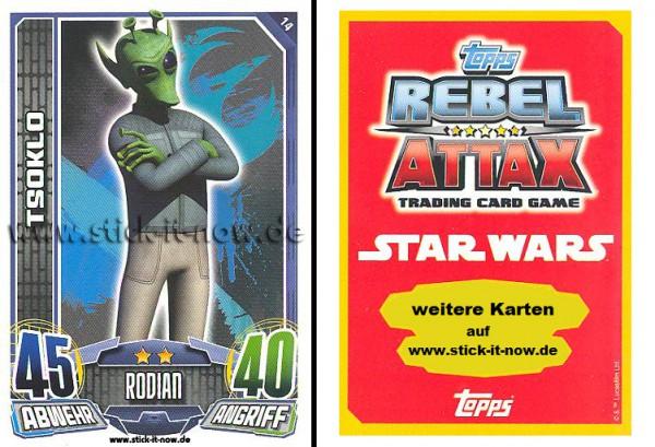 Rebel Attax - Serie 1 (2015) - TSOKLO - Nr. 14