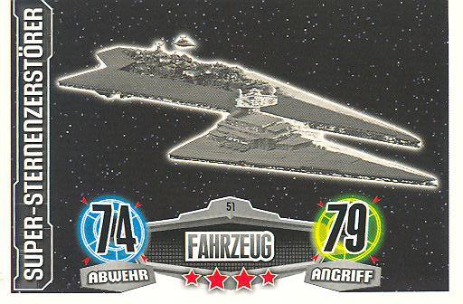Force Attax - SUPER-STERNENZERSTÖRER - Fahrzeug - Imperium - Movie Collection