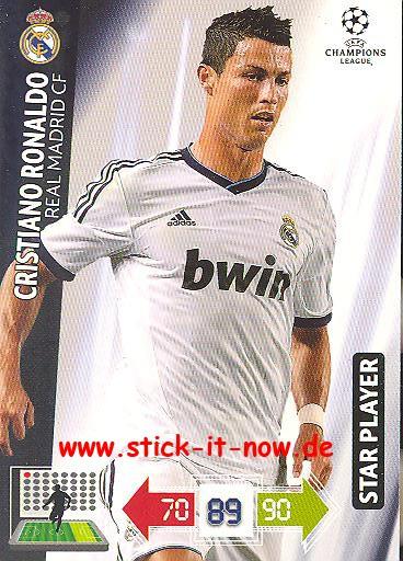 Weihnachtskalender Real.Panini Adrenalyn Xl Cl 12 13 Real Madrid Cristiano Ronaldo