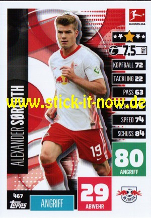 """Topps Match Attax Bundesliga 2020/21 """"Extra"""" - Nr. 467"""