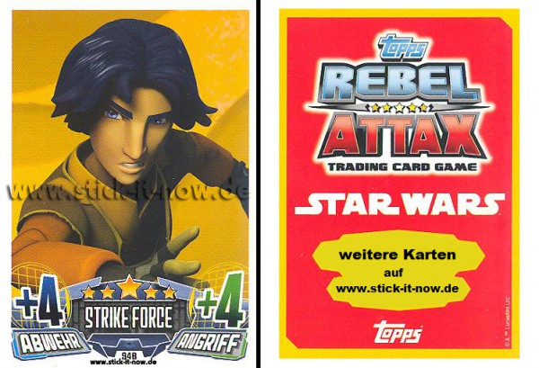 Rebel Attax - Serie 1 (2015) - STRIKE-FORCE - REBELLION 1 - Nr. 94B