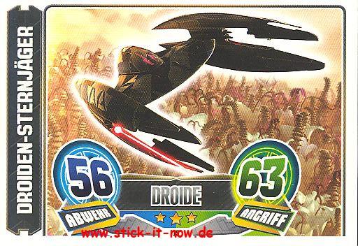 Force Attax - Star Wars - Clone Wars - Serie 5 - Droiden-Sternjäger - Nr. 75