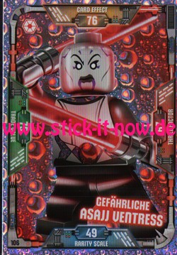 Lego Star Wars Trading Card Collection (2018) - Nr. 106 (Glitzer)