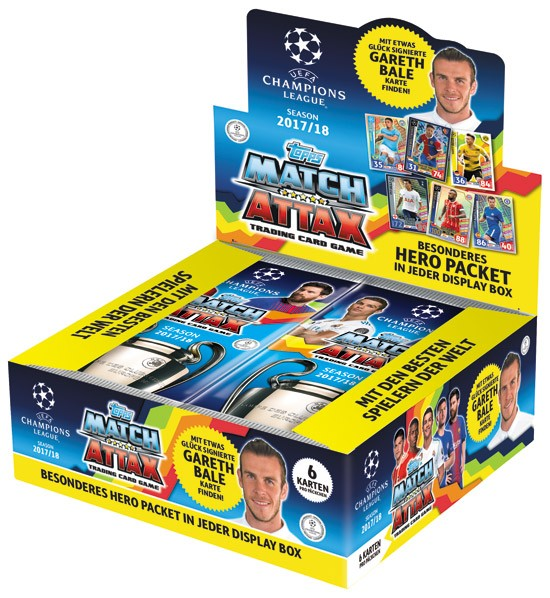 Match Attax Champions League 17/18 - 1 Display (24 Booster)