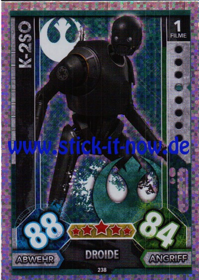 Topps Star Wars FORCE ATTAX UNIVERSE (2017) - Nr. 238 (Glitzer-Karte)