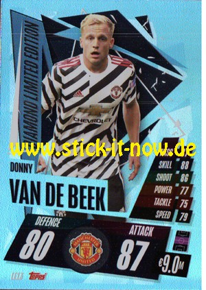 """Match Attax Champions League 2020/21 """"Update"""" - Nr. LE13 (Diamond Limited Edition)"""