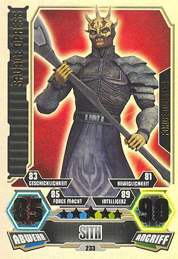 Force Attax - Serie 3 - FORCE-MEISTER - Savage Opress - Nr. 233