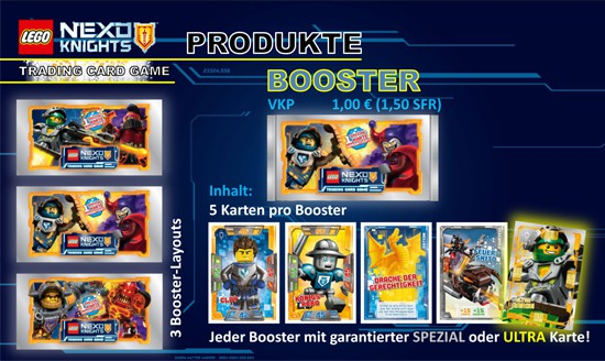 Lego Nexo Knights Trading Cards (2016) - 1 Booster