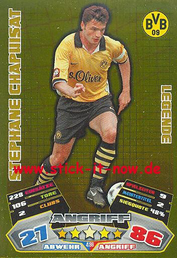 Match Attax 12/13 EXTRA - Stephane Chapuisat - Bor. Dortmund - LEGENDE - Nr. 498
