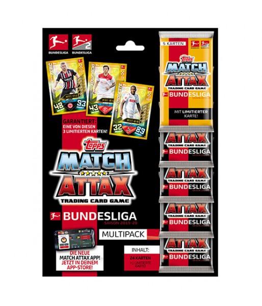 Topps Match Attax Bundesliga 2019/20 - Multipack ( 24 Karten + 1 von 3 limitierten Karten )