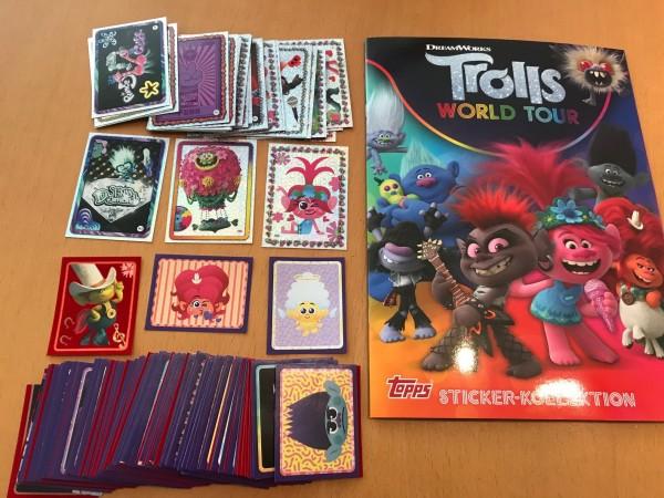 "Trolls ""World Tour"" (2020) - komplettsatz ( Alle Sticker + Leeralbum )"
