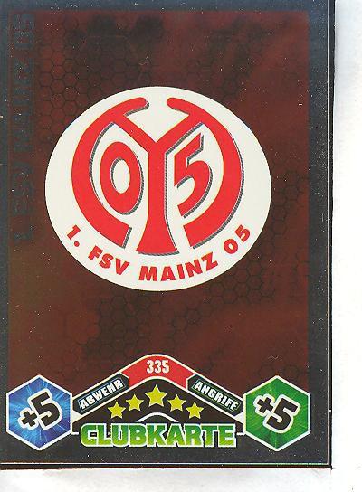 FSV Mayence 05-Carte Match Attax 10//11-335 1