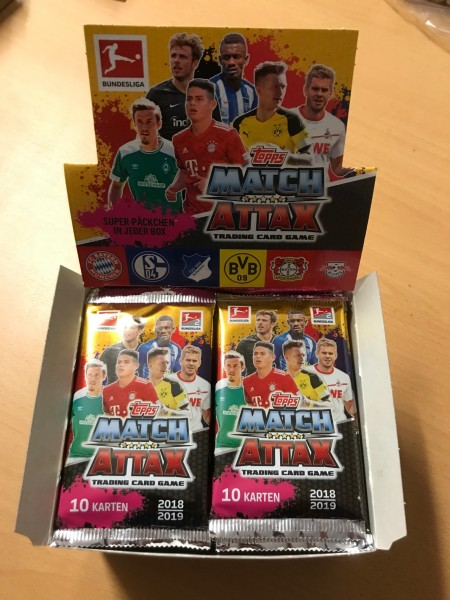 Topps Match Attax Bundesliga 18/19 - Display (36 Booster á 10 Karten)