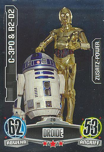 Force Attax - C-3PO & R2-D2 - Droide - ZUSATZ-POWER - Movie Collection