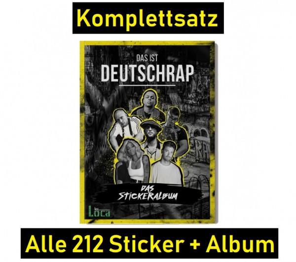 Das ist Deutschrap (2019) - komplettsatz (alle 212 Sticker + Album)