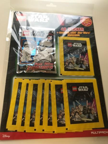 "Lego Star Wars ""Sticker-Serie"" (2020) - Multipack 2 ( 8 Tüten + Lego-Figur Stormtrooper )"