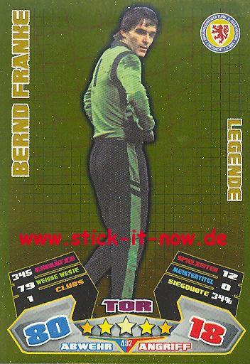 Match Attax 12/13 EXTRA - Bernd Franke - Ein. Braunschweig - LEGENDE - Nr. 492