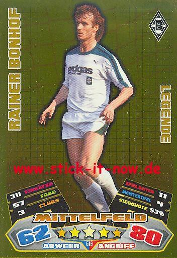 Match Attax 12/13 EXTRA - Rainer Bonhof - Bor. M'gladbach - LEGENDE - Nr. 519