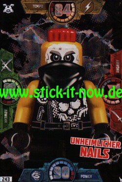 Lego Ninjago Trading Cards - SERIE 3 (2018) - Nr. 243 (BLACK CARD)