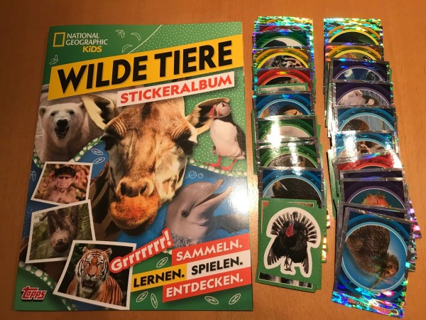 "National Geographic Kids ""Wilde Tiere"" (2019) - komplettsatz ( alle Sticker + Album )"