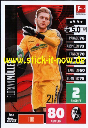 """Topps Match Attax Bundesliga 2020/21 """"Extra"""" - Nr. 452"""