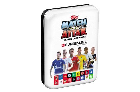 "Topps Match Attax Bundesliga 2020/21 - Mini-Tin Dose ""weiß"" ( 44 Karten + 1 Limitierte Karte )"