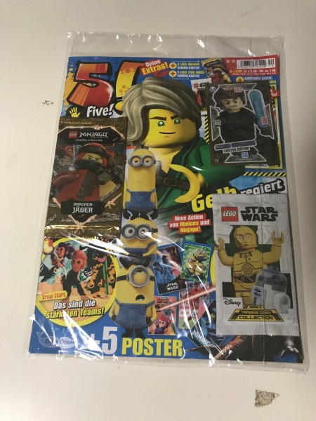 5! Five! Magazin Nr. 12/2019 (mit Lego Ninjago & Star Wars Booster + LE4 Lego Star Wars)