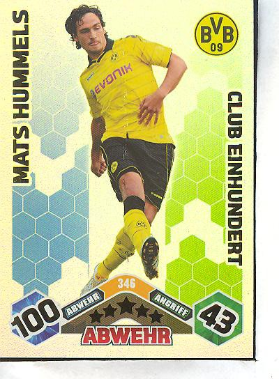 Match Attax 10/11 - Club 100 - MATS HUMMELS - 346