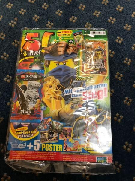 """5! Five! Magazin Nr. 01/2021 (mit Lego Ninjago 6 Booster + LE22 """"Serie 6"""" )"""