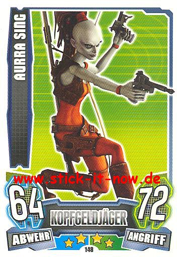 Force Attax - Star Wars - Clone Wars - Serie 4 - AURRA SING - Nr. 148