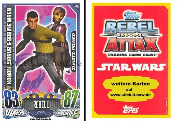 Rebel Attax - Serie 1 (2015) - KANAN JARRUS & SABINE WREN - Nr. 64