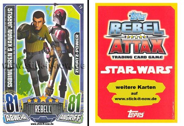 Rebel Attax - Serie 1 (2015) - SABINE WREN & KANAN JARRUS - Nr. 73
