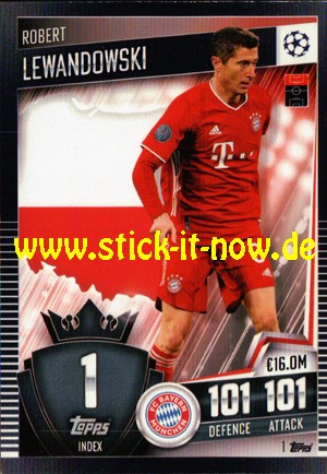 Topps Match Attax 101 (2021) - Nr. 1 ( Lewandowski )