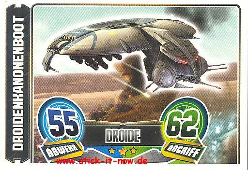 Force Attax - Star Wars - Clone Wars - Serie 5 - Droidenkanonenboot - Nr. 76