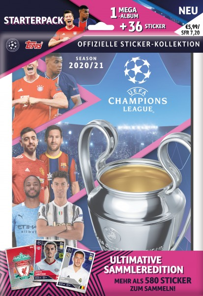 """Champions League 2020/2021 """"Sticker"""" - Starter-Set"""