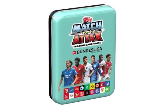 "Topps Match Attax Bundesliga 2020/21 - Mini-Tin Dose ""türkis"" ( 44 Karten + 1 Limitierte Karte )"