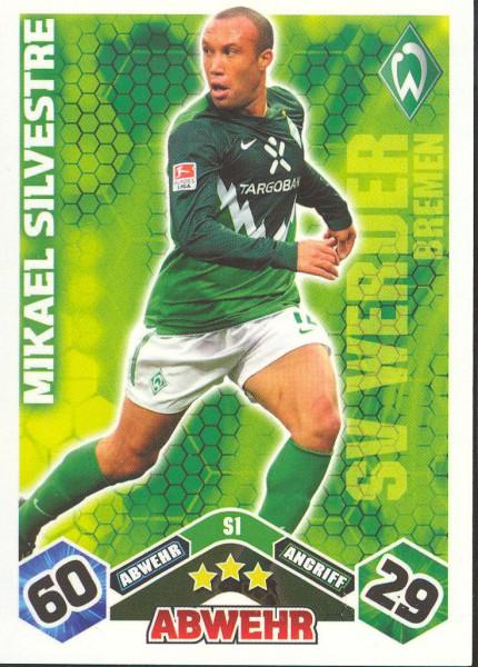 Mikael Silvestre - Match Attax 10/11 Spezial
