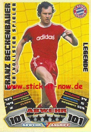 Match Attax 12/13 EXTRA - Franz Beckenbauer - FC Bayern München - LEGENDE - Wertvollster Spieler - N